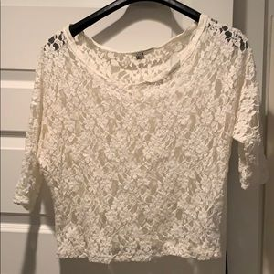 Forever 21 Lace 3/4 Sleeve Top - L